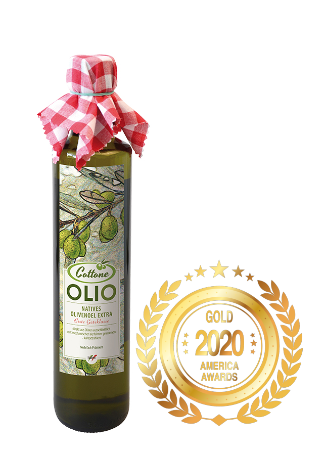 Olio Cottone was awarded Gold by America Newspaper.