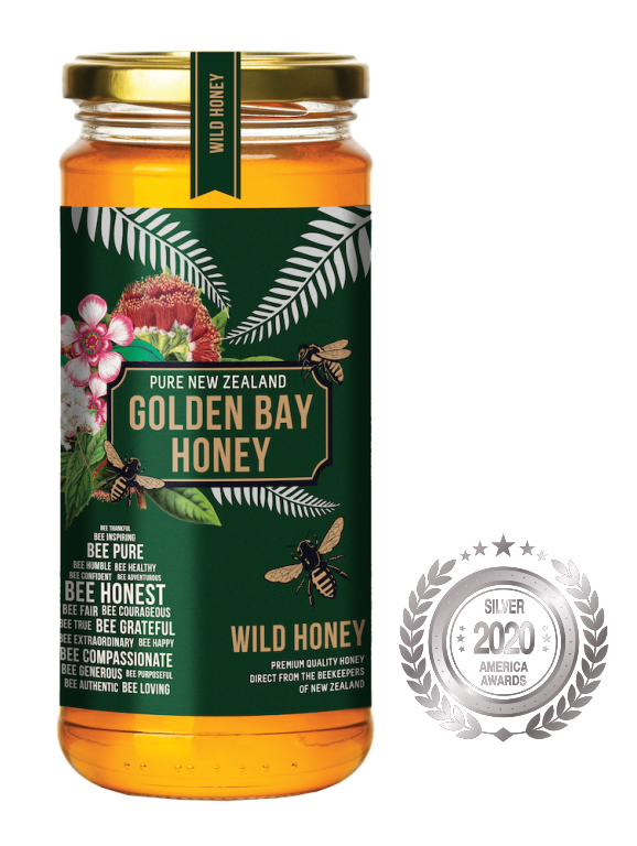 Golden Bay Honey has received a Silver award in America Food Awards 2020, awarded by America-Newspaper.com.